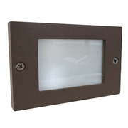 Universal Lighting Systems Frosted Step Light - Architectural Bronze